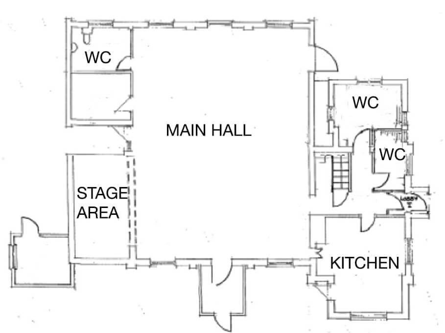 Plaitford Village Hall plan