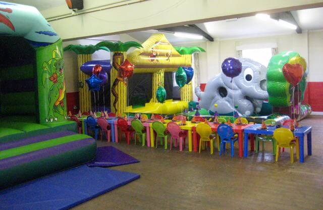 Plaitford Village Hall children's party setup 1