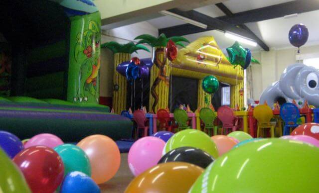 Plaitford Village Hall children's party setup 2